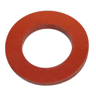 """Flat Silicone Gasket for 1/2"""" NPT, bulkheads, LTS sight"""