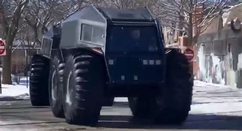 Fleet Of Sherp ATVs Take Over Chicago As Kanye West