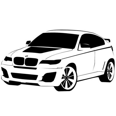 Vector for free use: BMW X6