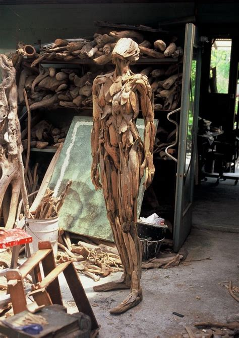Haunting Driftwood Forest Spirits By Japanese Sculptor