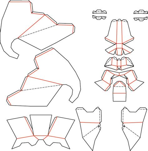 Elephant Mask template - Low Poly DXF by theshort