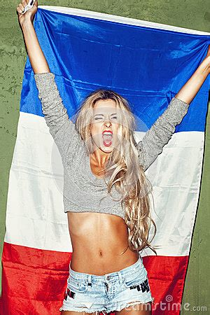 Woman With French Flag Stock Photography - Image: 34636682