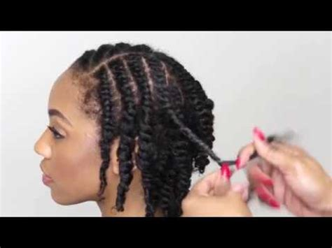 Natural Hair Tutorial- How To Do A Two Strand Twist - YouTube