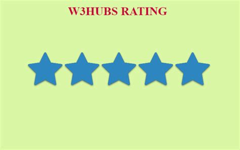 bootstrap rating star w3schools | | W3hubs