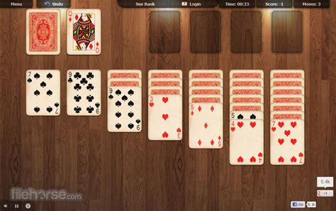 Online Solitaire - One click and it`s ready for play