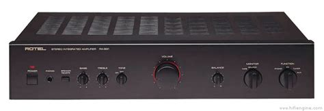 Rotel RA-931 Stereo Integrated Amplifier Manual | HiFi Engine