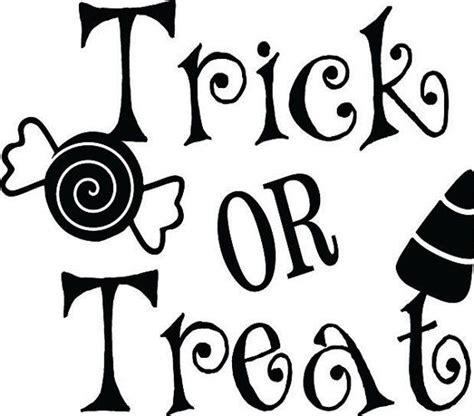 Trick Or Treat Vinyl Decal Halloween Decal by