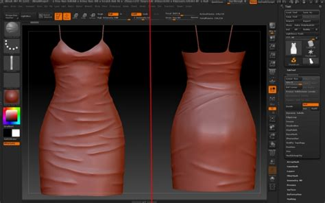 Making wrinkles on clothes using ZBrush at Deep Space