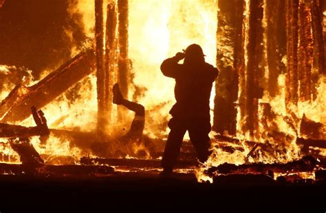 Harrowing Photos Show The Burning Man Who Died After
