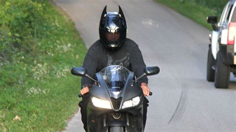 Batman's Motorcycle Helmet Looks Both Cool and Silly