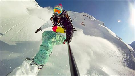 GoPro HD HERO camera: Snowboarding with the Pole Cam Mount