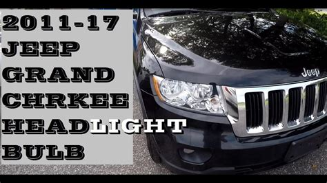 How to change replace Headlight bulb in Jeep Grand