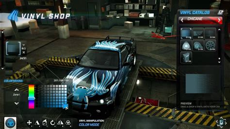Customising my car with Vinyls in Need for Speed: World