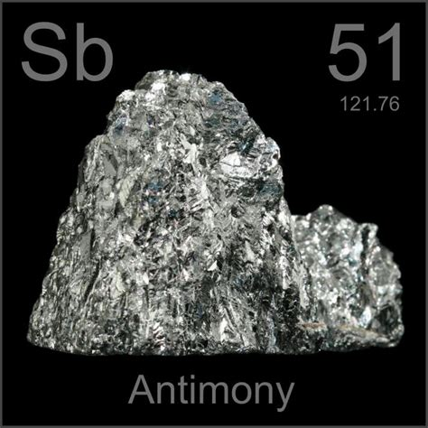Broken crystal, a sample of the element Antimony in the