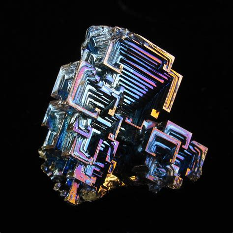 Bismuth Crystal | A close-up of a small bismuth crystals