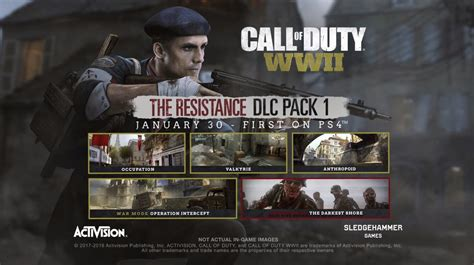 """Call of Duty WWII DLC 1 """"The Resistance"""" Announced"""