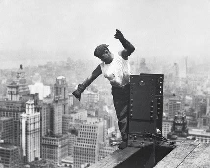 Builder on the Empire State Building', New York, 1930