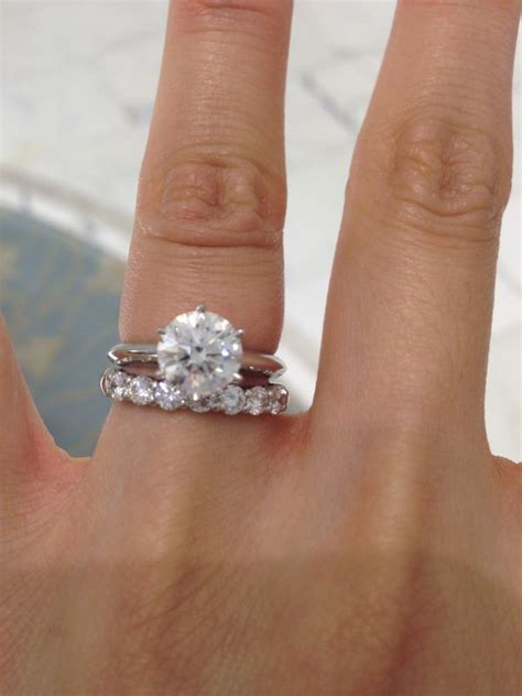 Help with choosing Wedding Band with Solitaire Ring (Photo