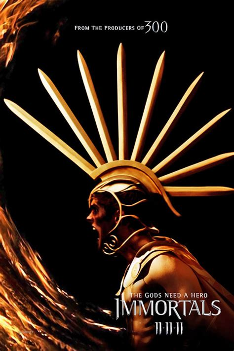 greek myth - Who is the god on the Immortals poster