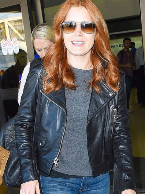 Amy Adams Black Real Leather Jacket | Trendy Leather