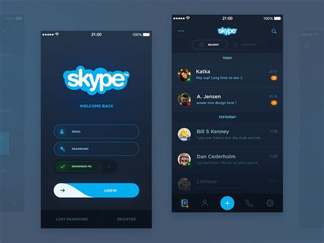 Skype Redesign (WIP) by Hervé Rbna on Dribbble