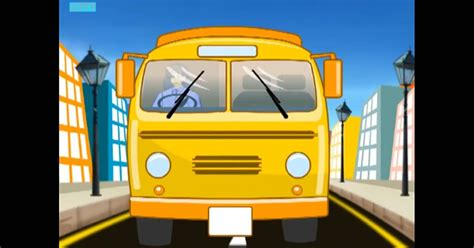The Wheels On The Bus Go Round And Round - Animated