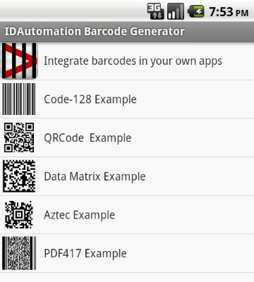 Android Barcode Fonts Generator App