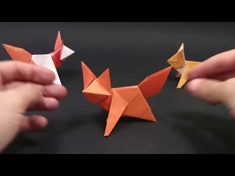 Origami Fox Tutorial (designed by Mathieu Gueros in 2015