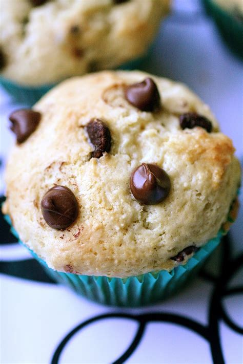 Chocolate Chip Sour Cream Muffins   The Curvy Carrot